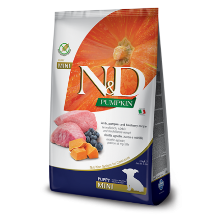 N&D Pumpkin Grain Free Јагнешко и Боровинка PUPPY MINI 7