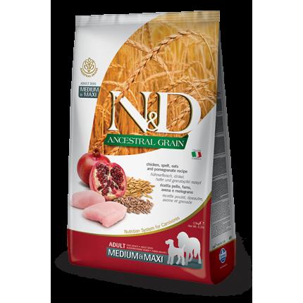 ND  Low Ancestral Grain Пилешко и Калинка MEDIUM & MAXI (12кг)